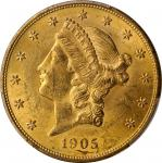 1905 Liberty Head Double Eagle. MS-61 (PCGS).