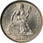 1887-S Liberty Seated Dime. MS-65 (NGC).