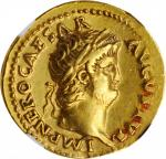 NERO, A.D. 54-68. AV Aureus (7.29 gms), Rome Mint, ca. A.D. 66-67. NGC EF, Strike: 4/5 Surface: 4/5.
