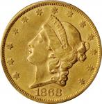 1868-S Liberty Head Double Eagle. AU Details--Scratch (PCGS).