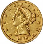 1879-CC Liberty Head Half Eagle. EF-40 Details--Scratched (ANACS).