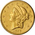 1852-O Liberty Head Double Eagle. Winter-1, the only known dies. EF-45 (PCGS).