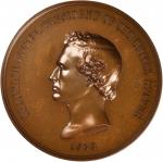 1853 Franklin Pierce Indian Peace Medal. First Size. Second Obverse. Bronzed Copper. 75.7 mm, rims 6