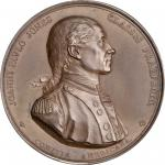 1779 (1880-1901) Captain John Paul Jones / Bonhomme Richard vs. Serapis Medal. Paris Mint Restrike f