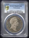 NETHERLANDS Kingdom 连合王国 2-1/2Gulden 1840 PCGS-PR63 CAM Proof UNC