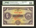 PORTUGUESE GUINEA. Banco Nacional Ultramarino. 1 to 100 Escudos, 1921. P-12s, 14s, 15s, 16s, 17s, &