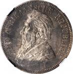 SOUTH AFRICA. 5 Shillings, 1892. Pretoria Mint. NGC AU-55.