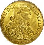 COLOMBIA. 1816-JF 8 Escudos. Santa Fe de Nuevo Reino (Bogotá) mint. Ferdinand VII (1808-1833). Restr
