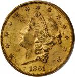 1861 Liberty Head Double Eagle. MS-61 (PCGS).