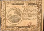 CC-6. Continental Currency. May 10, 1775. $6. About Uncirculated.