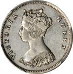 1864年香港一毫 HONG KONG. 10 Cents, 1864. Victoria. PCGS Genuine--Cleaned, EF Details Gold Shield.