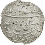 AWADH: Wajid Ali Shah, 1847-1858, AR rupee, Lucknow, AH1269 year 6, KM-365。3, brilliant white origin