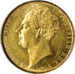 GREAT BRITAIN. 2 Pounds, 1823. London Mint. George IV. PCGS Genuine--Cleaned, AU Details Gold Shield