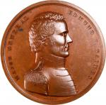 1814 Major General Edmund P. Gaines at the Siege of Fort Erie.  Bronze. 65 mm. Julian MI-13. Mint St