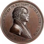 1837 Martin Van Buren Indian Peace Medal. Copper, Bronzed. Third Size. First Reverse. Julian IP-19.