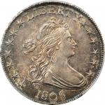1806 Draped Bust Half Dollar. O-109, T-15. Rarity-1. Pointed 6, Stem Not Through Claw. MS-64 (PCGS).