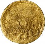 Undated (ca. 1940s) Fugio Copper Restrike Reverse Impression. Gold. Newman Reverse-GG, Breen-1330. U