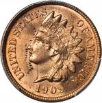 1909 Indian Cent. MS-64 RD (PCGS).