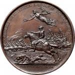 1781 (ca. 1863) William Washington at Cowpens medal. Betts-594, Julian MI-8. Copper. Bell-metal (i.e