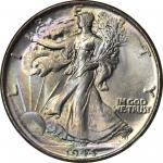 1944 Walking Liberty Half Dollar. MS-68 (NGC).