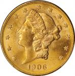 1906-S Liberty Head Double Eagle. MS-62 (PCGS).