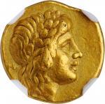 ITALY. Calabria. Tarentum. Time of Pyrrhos of Epeiros, ca. 276-272 B.C. AV 1/4 Stater (Triobol) (2.1