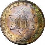 1853 Silver Three-Cent Piece. MS-67 (PCGS). CAC.