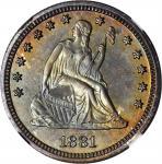 1881 Liberty Seated Quarter. Proof-66+ (NGC).