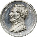 Circa 1864 Washington and Flags / Abraham Lincoln medal by William H. Key. Musante GW-721, Baker-237