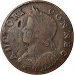 1785 Connecticut Copper. Miller 7.1-D, W-2440. Rarity-4+. Mailed Bust Left. VF-30 (PCGS).