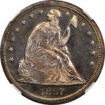1867 Liberty Seated Silver Dollar. Proof-65 Cameo (NGC).