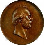 1865 Cornelius Vanderbilt National Gratitude medal. Bronze. 76 mm. By Salathiel Ellis. Julian PE-36.