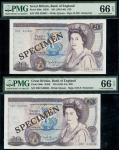 Bank of England, D.H.F. Somerset, consecutive 」20, ND (1981-84), serial number H22 540630/631, (EPM
