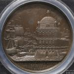 GREAT BRITAIN George III ジョージ3世(1760~1820) AE Medal 1808 PCGS-SP63 见本打ち UNC
