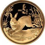 1999年蒙古国兔年生肖纪念50000图格里克 完未流通