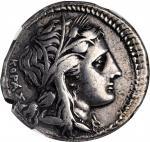 SICILY. Syracuse. Agathokles, 317-289 B.C. AR Tetradrachm (16.47 gms), ca. 310-306/5 B.C. NGC VF, St