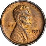 1921-S Lincoln Cent. MS-63 RB (PCGS).