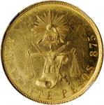 MEXICO. 20 Pesos, 1890-Mo M. Mexico City Mint. NGC MS-62★.