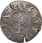 1652松树先令 Pine Tree Shilling NGC MS 64