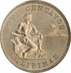 1903年5分。费城铸币厂。PHILIPPINES. 5 Centavos, 1903. Philadelphia Mint. PCGS PROOF-65.