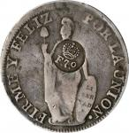 PHILIPPINES. Philippines - Peru. 8 Reales, ND (1832-34). Ferdinand VII. PCGS VF-20 Gold Shield. Coun