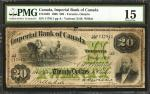 CANADA. Imperial Bank of Canada. 20 Dollars, 1906. CAD3751026. PMG Choice Fine 15.