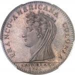 USA Castorland (1792-1800). Jeton d'un 1/2 dollar, frappe avec coins d'origine 1796 (avant 1830), Pa