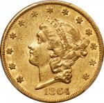 1864 Liberty Head Double Eagle. AU-50 (PCGS).