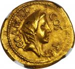 JULIUS CAESAR. AV Aureus (8.12 gms), Rome Mint, ca. 46 B.C.