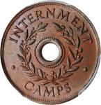 AUSTRALIA. Internment Camp Shilling, ND (1943). PCGS MS-64 Brown Gold Shield.