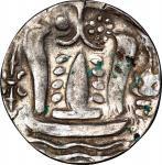 Pyu Kingdom (Srikshatra), silver 1 Tanka, Ca.9th Century, weight 9.69g, Obverse: altar, Reverse: hrj