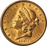 1862-S Liberty Head Double Eagle. MS-60 (PCGS).