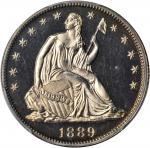 1889 Liberty Seated Half Dollar. Proof-64+ (PCGS).