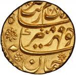 MUGHAL: Aurangzeb, 1658-1707, AV mohur, Aurangabad, AH1080, KM-315。10, regnal year off flan, tooled,